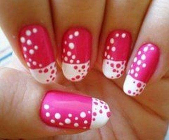 Pin by mia nicole on ua pinterest nail hacks and hot nails pink and white dot nail design nails pink nail white pretty nails nail art nail ideas nail designs dot prinsesfo Gallery