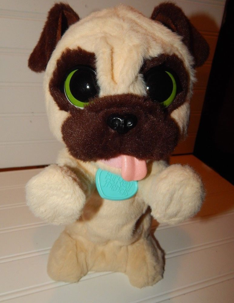 Furreal Friends Jj My Jumpin Pug Pet Interactive Dog Toy Euc