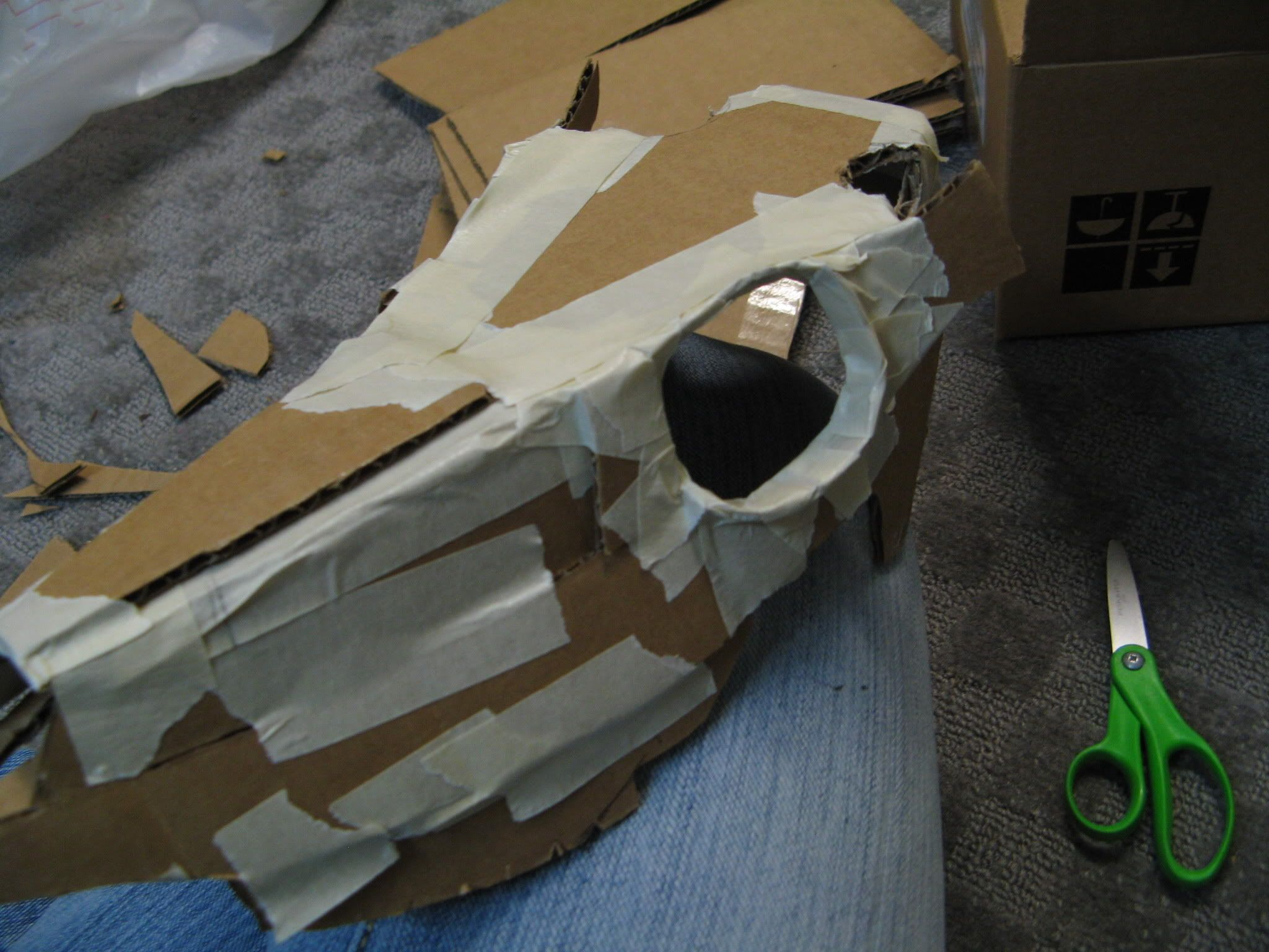 Cardboard Deer Skull | Paper Crafts | Deer skulls, Cardboard mask