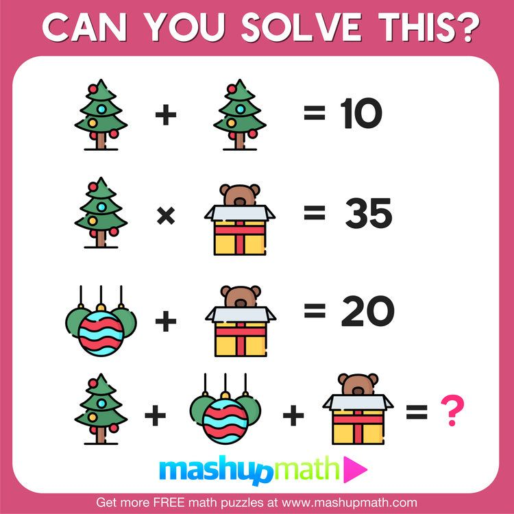 10 Free Christmas Math Activities For Your Kids Mashup Math Christmas Math Activities Christmas Math Holiday Math