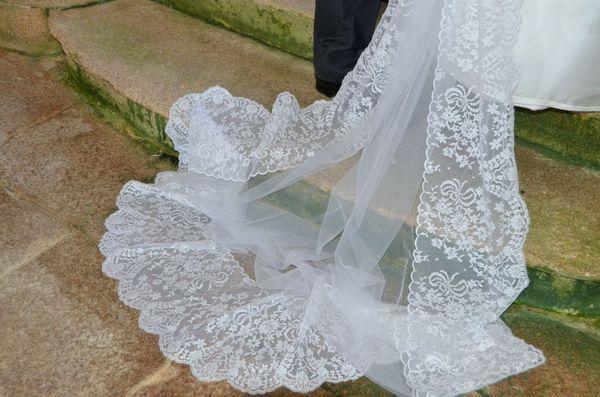 voile de mariée dentelle de calais - 53%