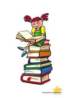 Ninos Con Libros Para Imprimir Gratis Book Posters Books Clip Art