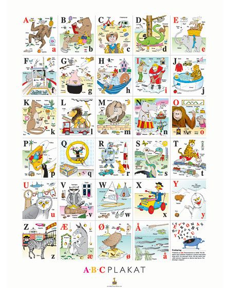 Dansk alfabet | Skole og undervisning | Preschool, Abc for kids og School