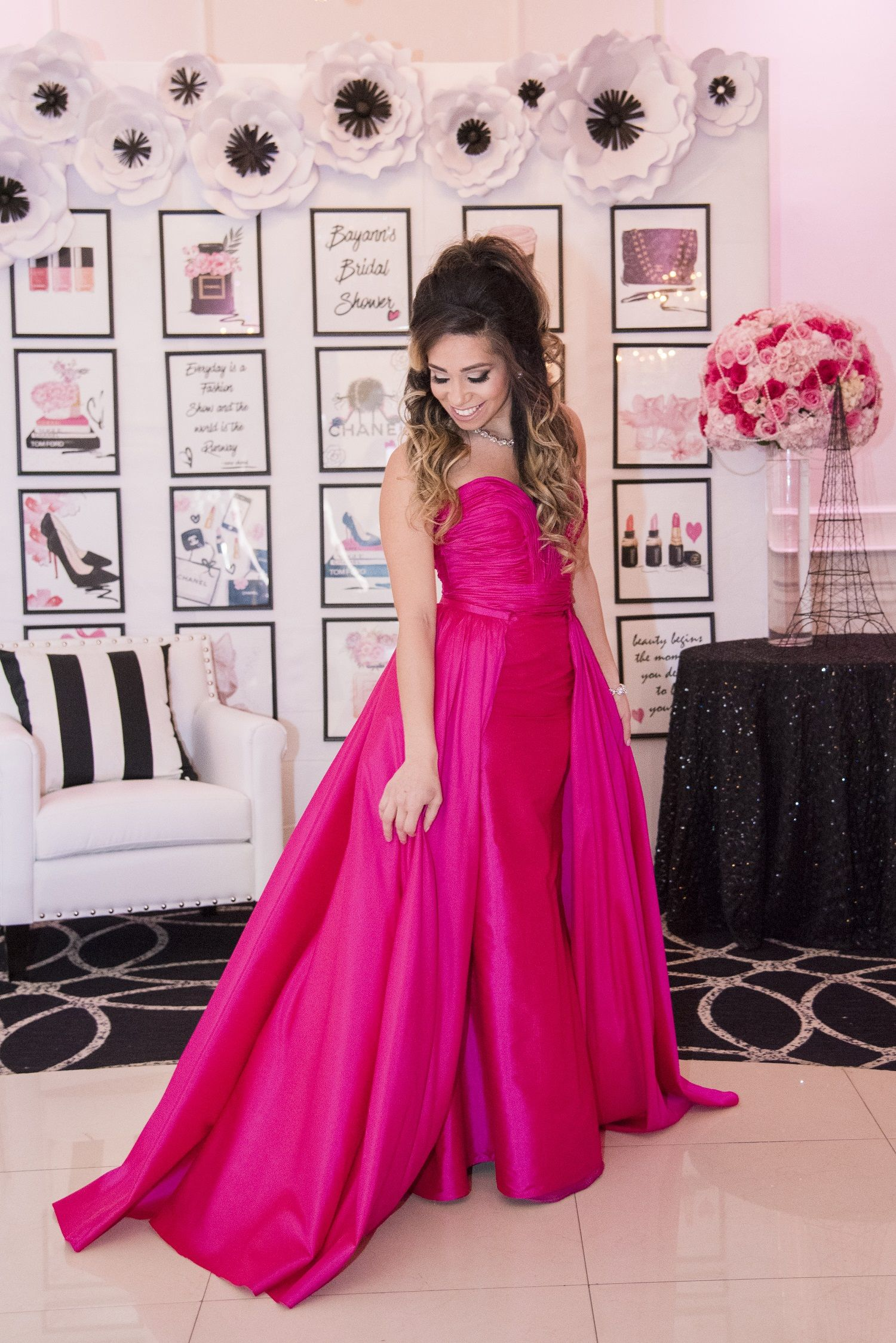 Chanel you later! A Perfume Themed Bridal Shower in Hot Pink | Pinterest