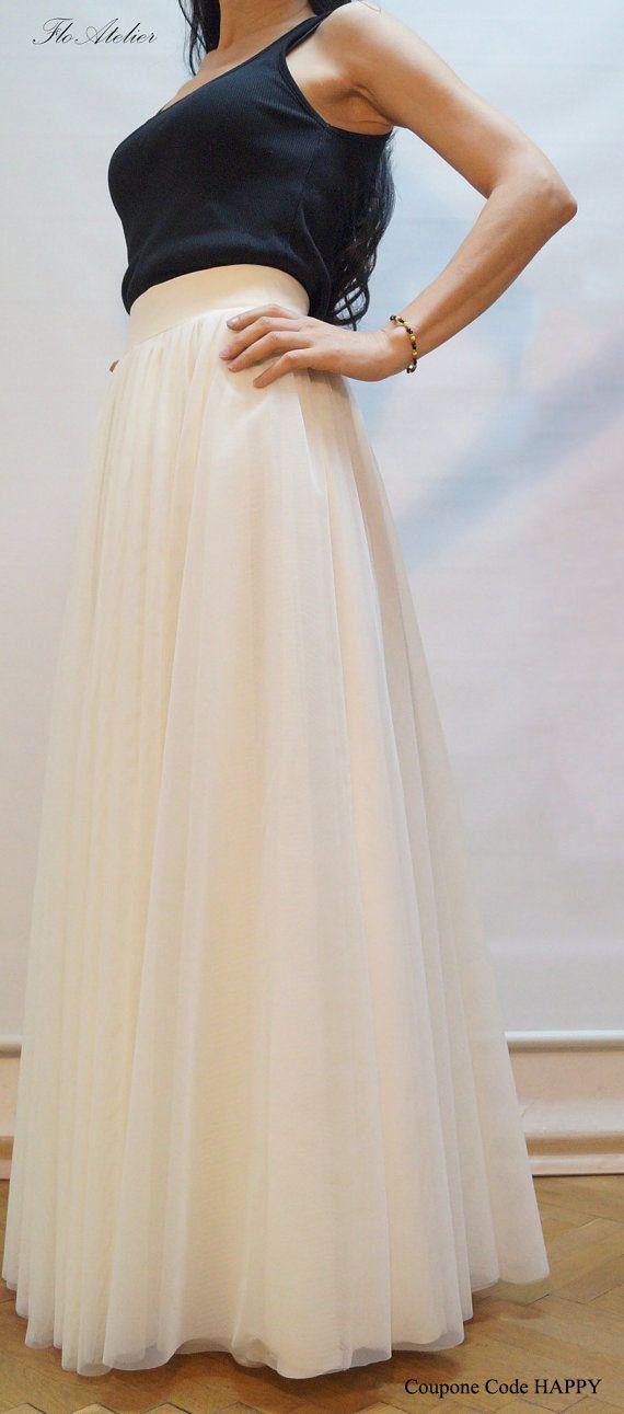 Women Tulle Skirt Tutu Skirt Princess Skirt Wedding Skirt Long Skirt OFF  White Skirt OFF White Long Tulle Skirt Ballet Skirt F1135 d3b93f12bdd4