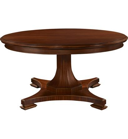 Riverhouse Dining Table With Pedestal Base Without Casters From The Thomas  Ou0027Brien Collection By Hickory Chair Furniture Co.