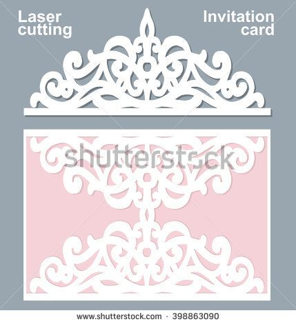 Vector die laser cut wedding card template wedding invitation card vector die laser cut wedding card template wedding invitation card mockup stopboris Image collections