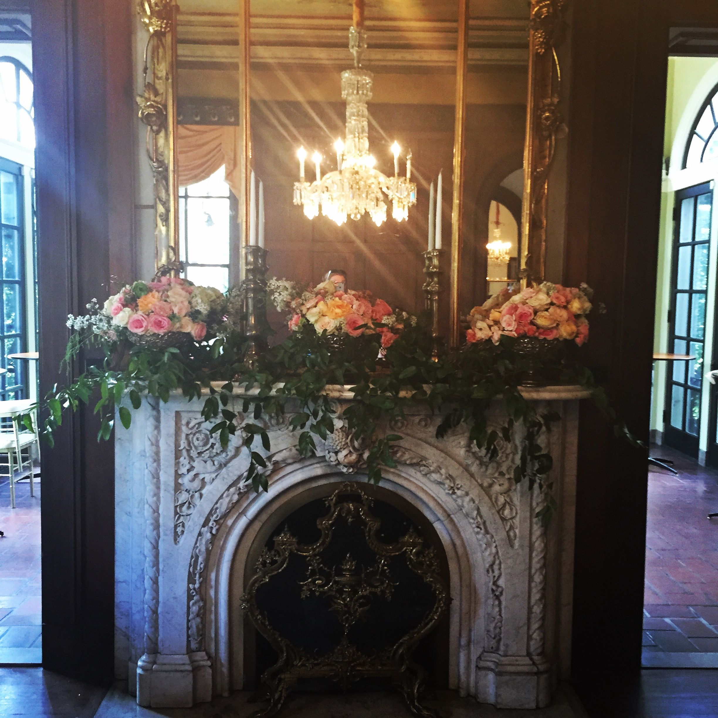 Annesdale Mansion wedding. Ballroom fireplace. Memphis, TN ...