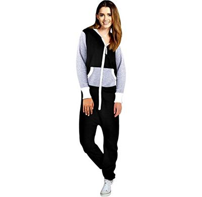 1aaccb56f7 Women s Ladies Onesie Hoodie Playsuit Jumpsuit X-Large