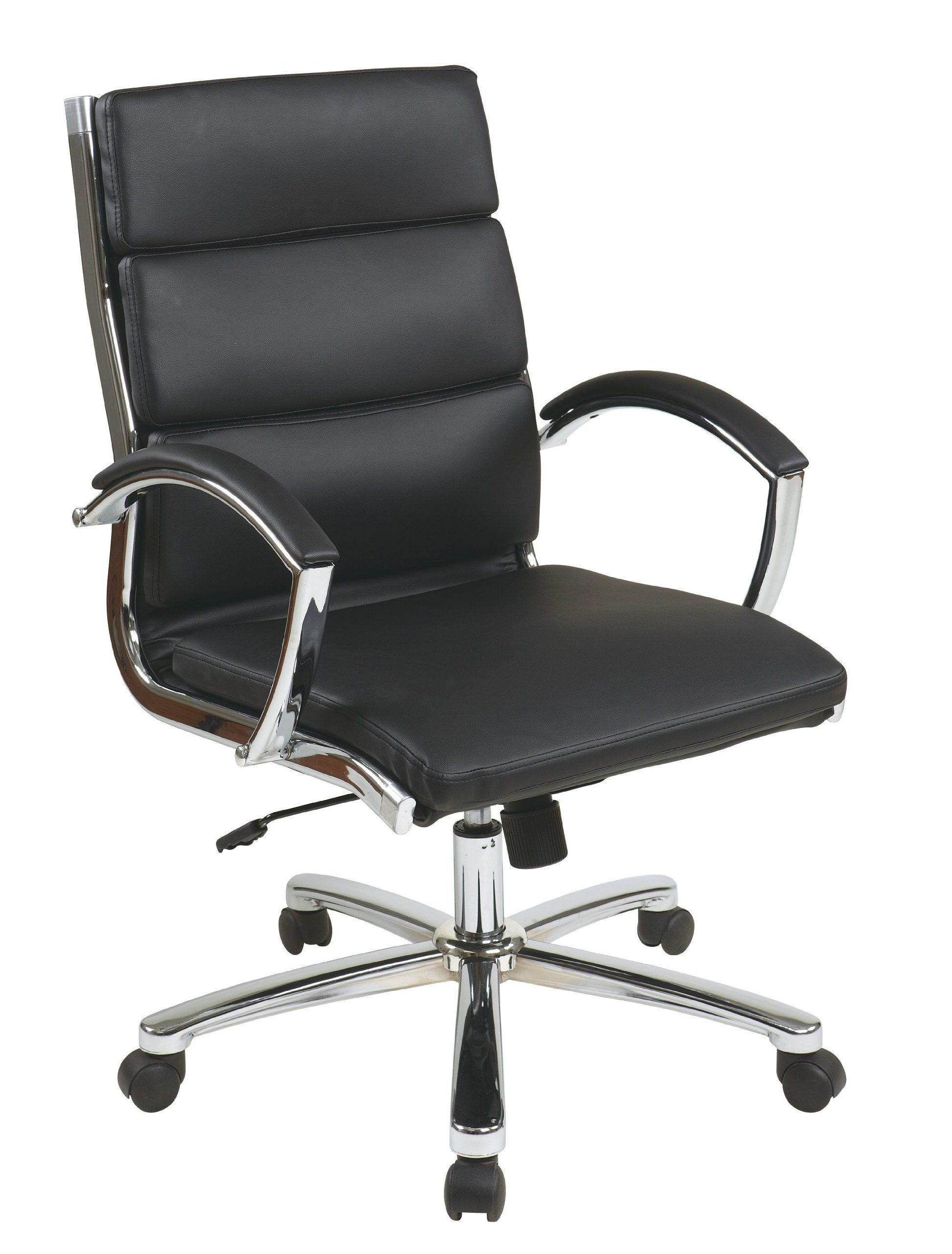 office star chairs. Office Star Mid Back Executive Faux Leather Chair With Chrome Finished Base And Padded Arms, Chairs L