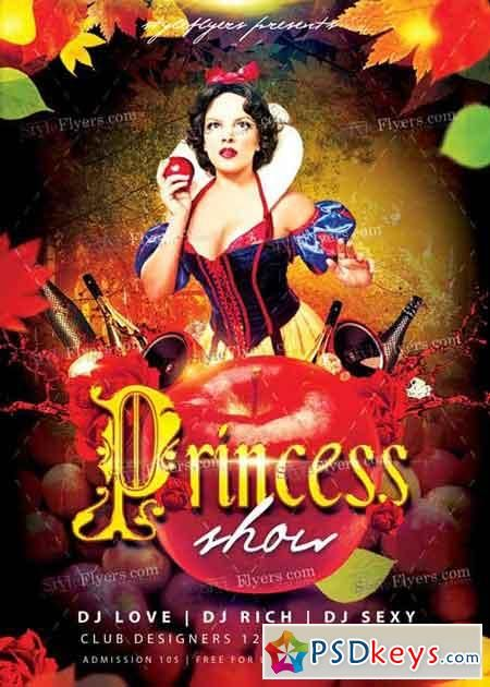 Princess Show Psd Flyer Template | Ads | Pinterest | Psd Flyer