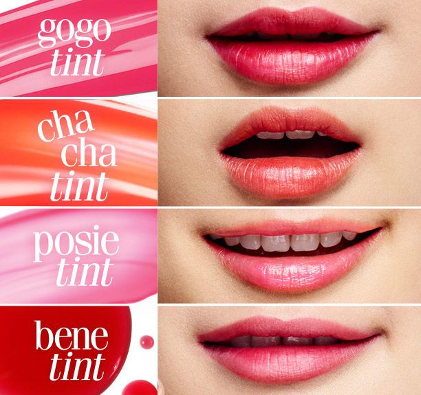 We've got plenty of ways to turn up your tint, whether it's with  chachatint, benetint, posietint, or gogotint! | Lip tint colors, Lip tint,  Lip stain