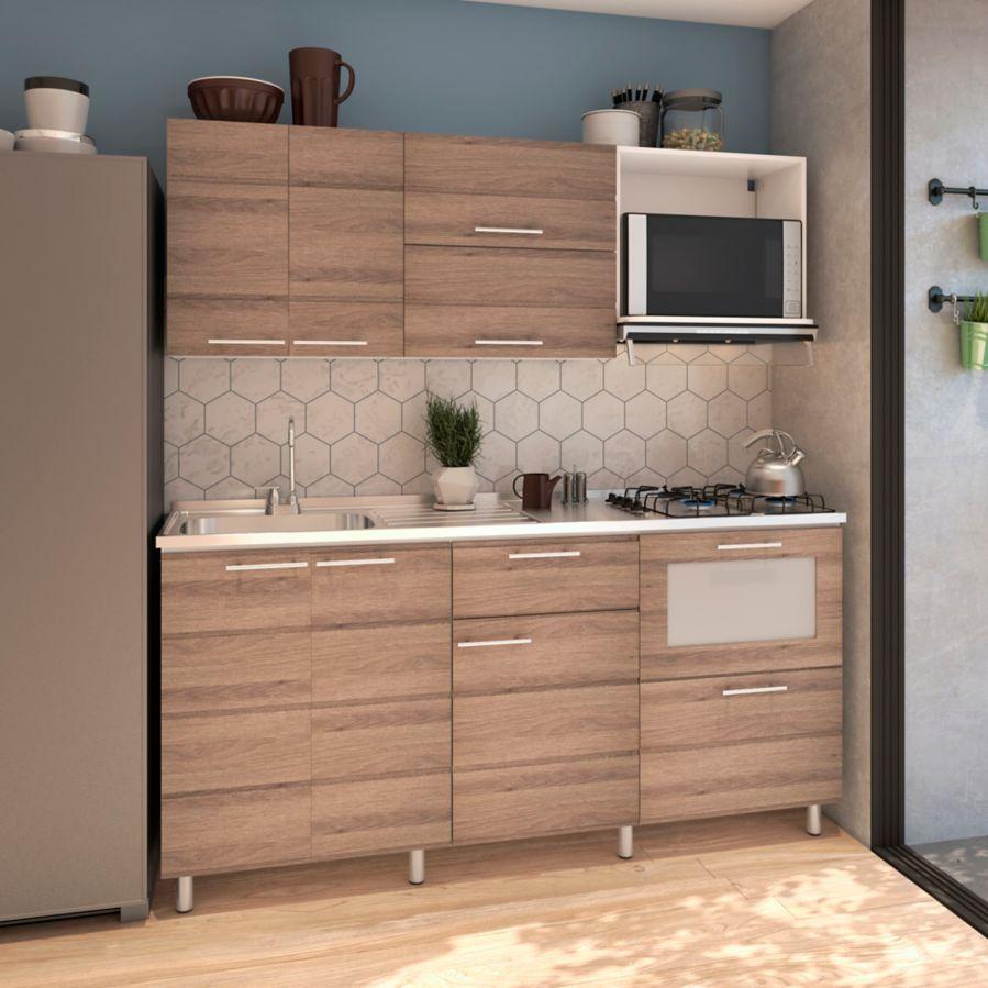 Cocina Integral Selecta 1 80 Metros 8 Puertas 2 Cajones Roble