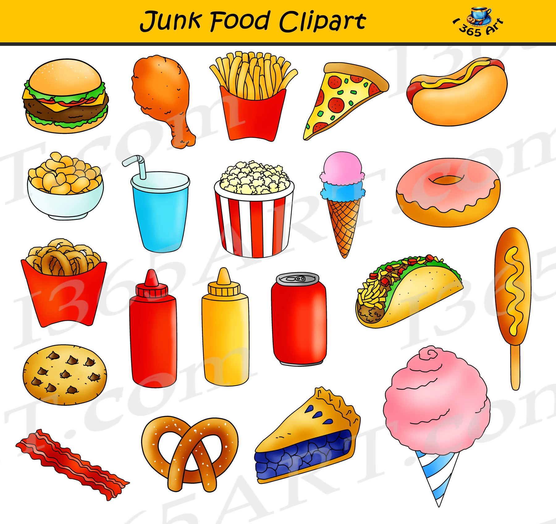 Junk Food Clipart, Fast Food Graphics Commercial Use