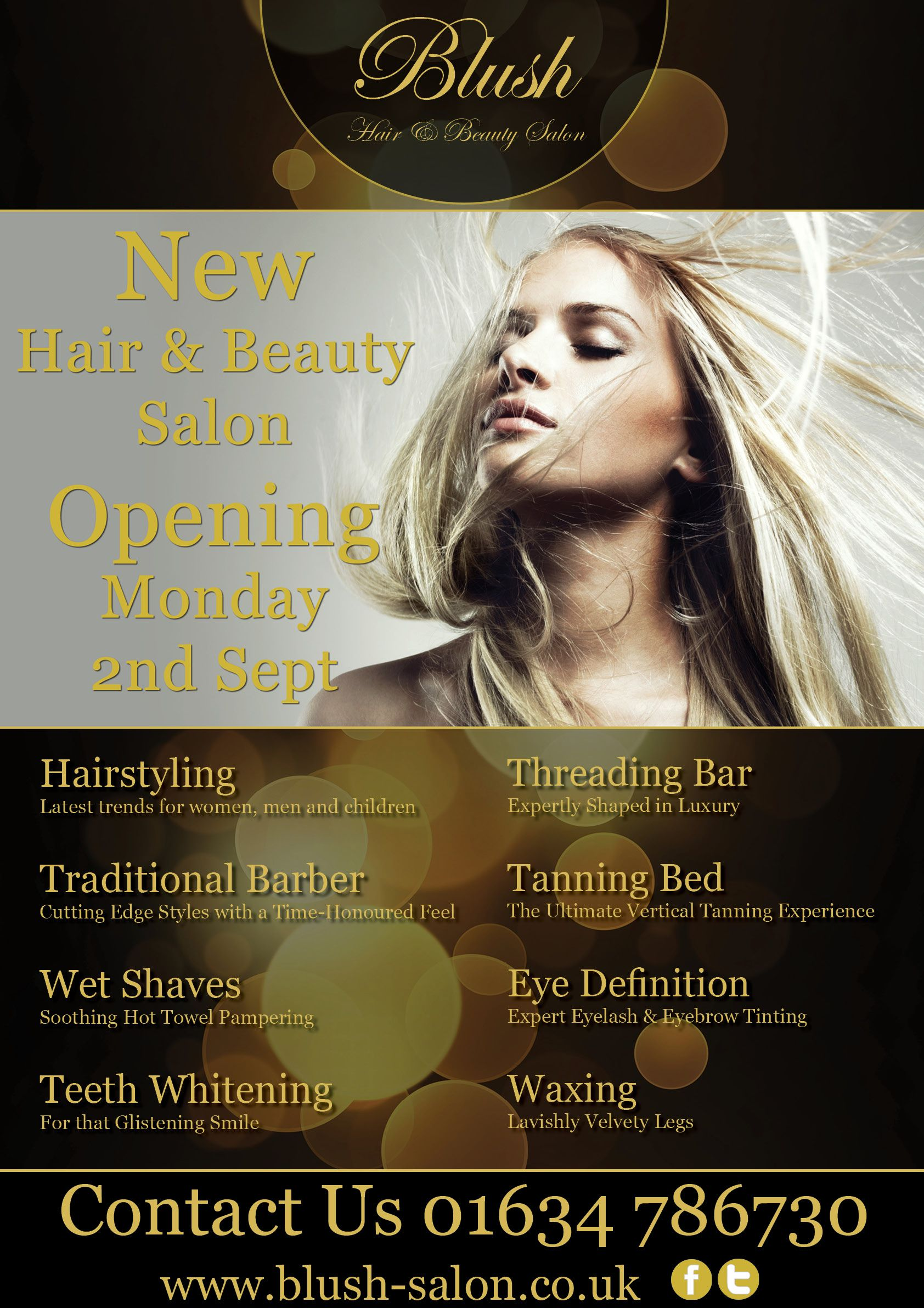 blush hair  u0026 beauty salon poster