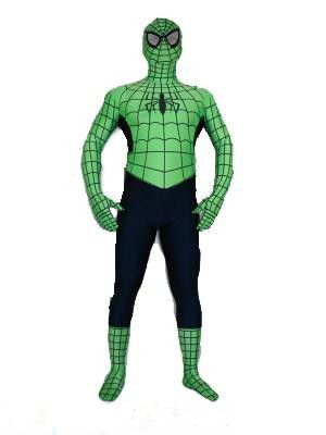Black and Green Spidrerman Costume Suit Outfit Zentai