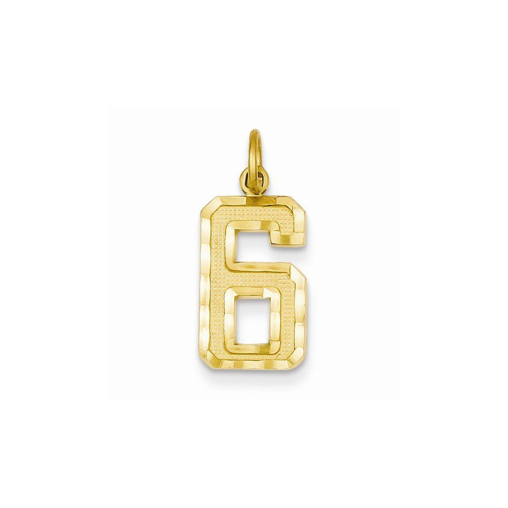 Ky casted medium diacut number charm best quality free gift