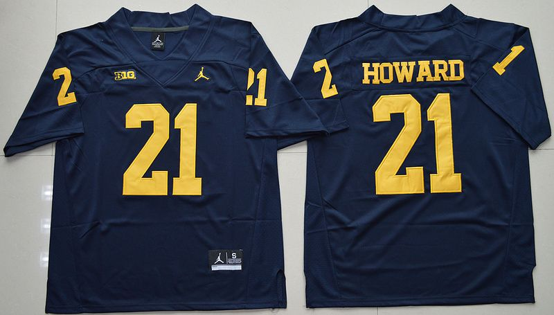e6465472da2 Jordan Brand Michigan Wolverines Desmond Howard 21 College Football Limited  Jersey - Navy Blue