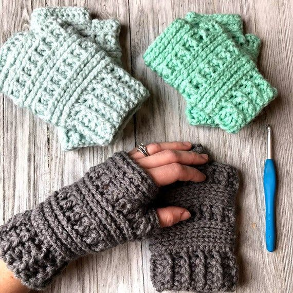 Ana Series Crochet Patterns Bundle eBook | Crochet Beanies | Crochet Ear Warmer | Crochet Scarf | Crochet Bonnet | Crochet Fingerless Gloves #gloves