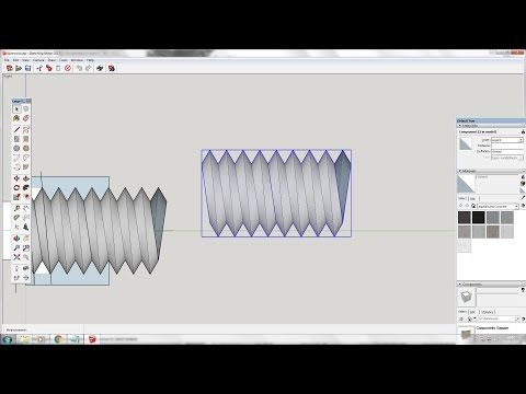 30) Sketchup: Drawing a screw thread without using addons - YouTube