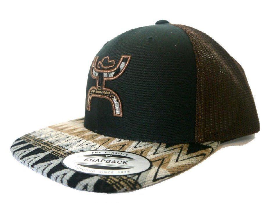 9624208a8b0 Hooey Hat -  Tut  Aztec Print Trucker Hat - Black Brown