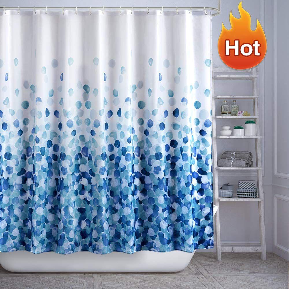 Arichomy Shower Curtain Set Bathroom Fabric Fall Curtains