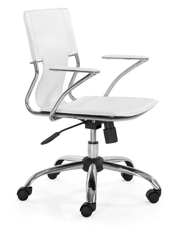 white modern office chair white rolling. Trafico Office Chair White Modern Rolling O