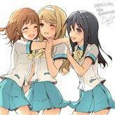 Three Best Friends Friend Anime Anime Best Friends Friend Cartoon