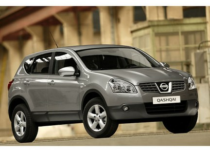 Nissan Qashqai, one of the most popular 4X4s in the UK.