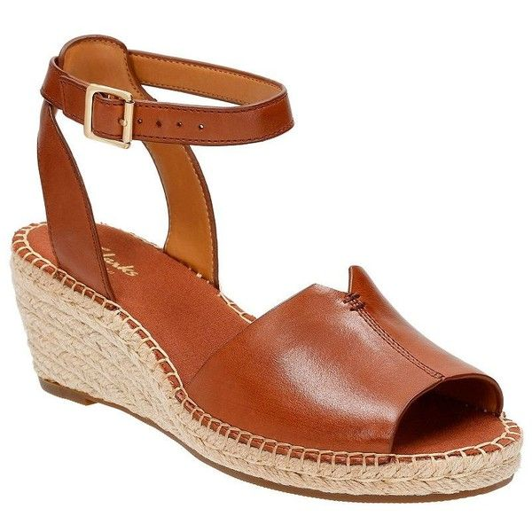 88bc2b5fde2 Clarks Women s Petrina Selma Full Grain Leather Wedge Espadrilles ( 50) ❤  liked on Polyvore featuring shoes