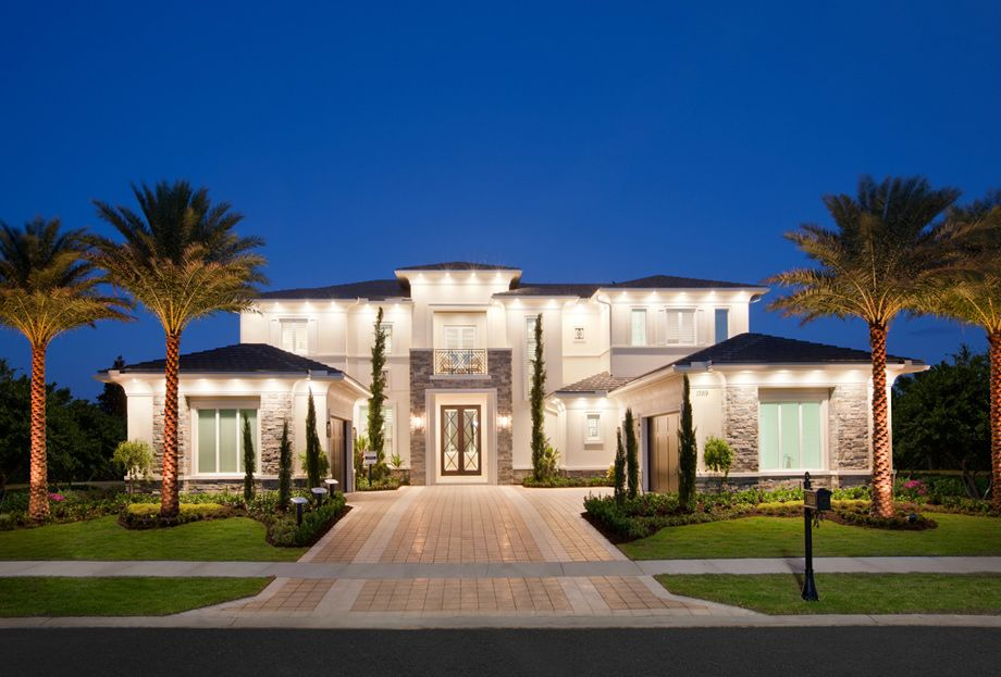 The Custom Homes Is A Luxurious Toll Brothers Home Design Available At  Royal Palm Polo