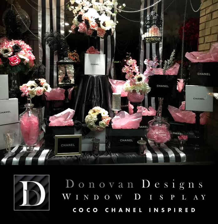 10 coco chanel wedding centerpieces window display floral design el 10 coco chanel wedding centerpieces window display floral design el paso texas florist 79912 donovan designs coco chanel wedding decorations display of junglespirit Images