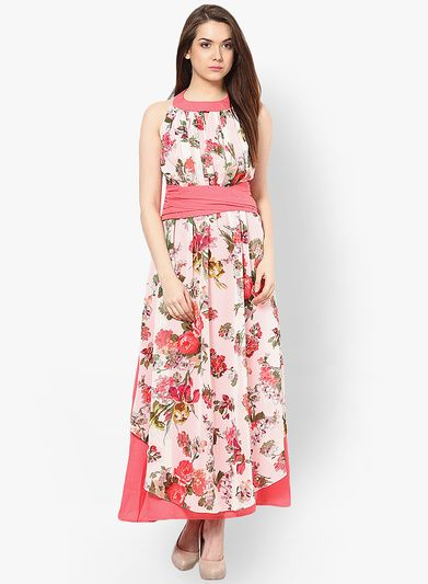 3a8d00f46c Buy Athena Pink Colored Printed Maxi Dress for Women Online India ...