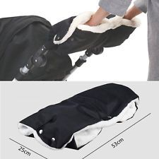 Baby Carriage Stroller Pushchair Waterproof Pram Hand Muff Glove Winter Warmer