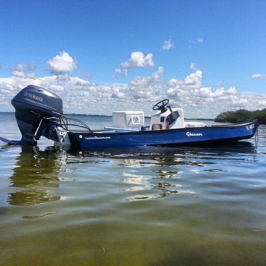 Big engine on gheenoe fishing stuff pinterest engine for Fishing boat motor