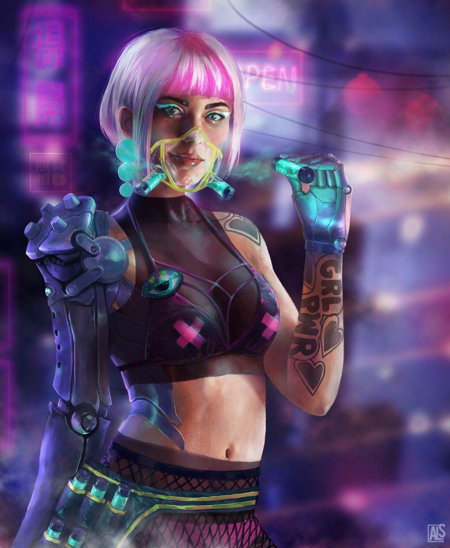 Air Dealer Aneta Lewko Slezak On Artstation At Https Www Artstation Com Artwork W21vxj In 2020 Cyberpunk Character Cyberpunk Girl Cyberpunk Aesthetic