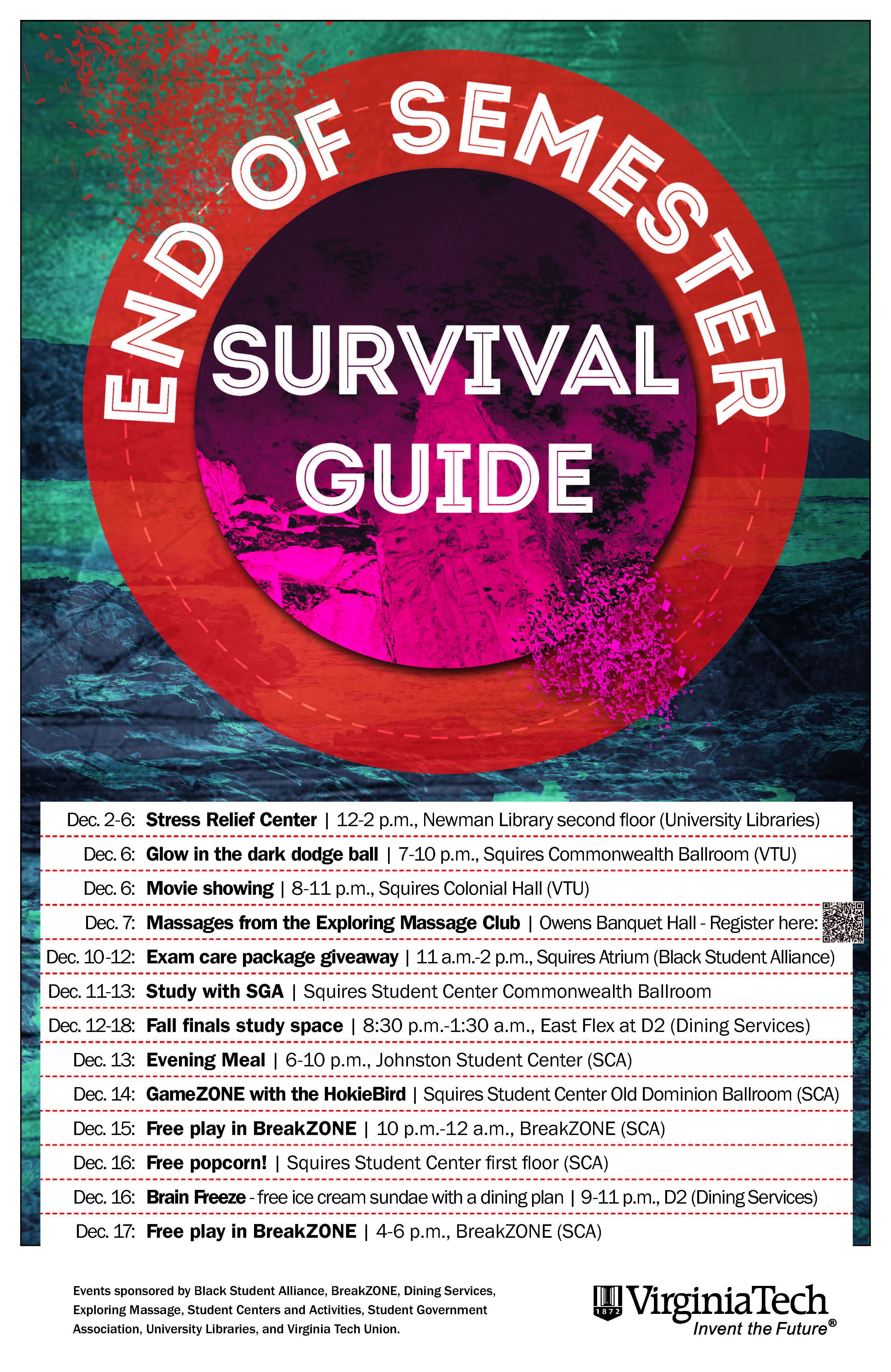 Get through the semester with vt survival guide this schedule is packed full of also rh pinterest