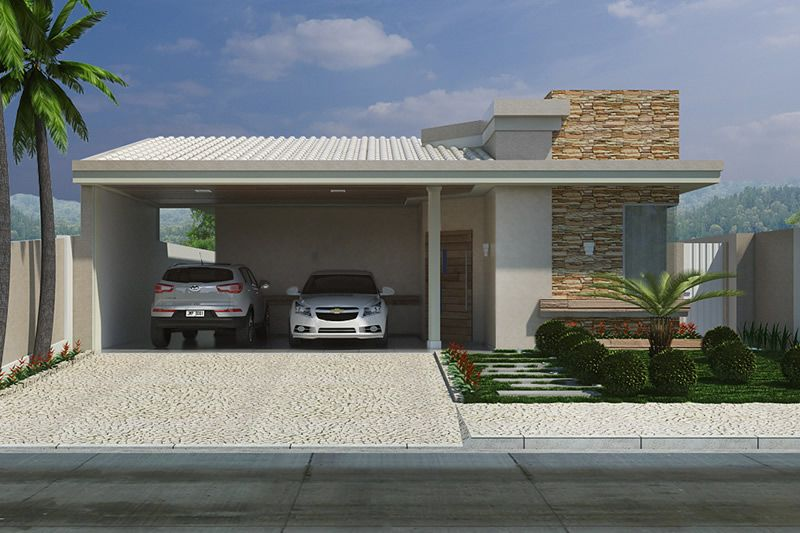 Planta de casa com telhado aparente projetos de casas for Plantas de casas tipo 3 modernas