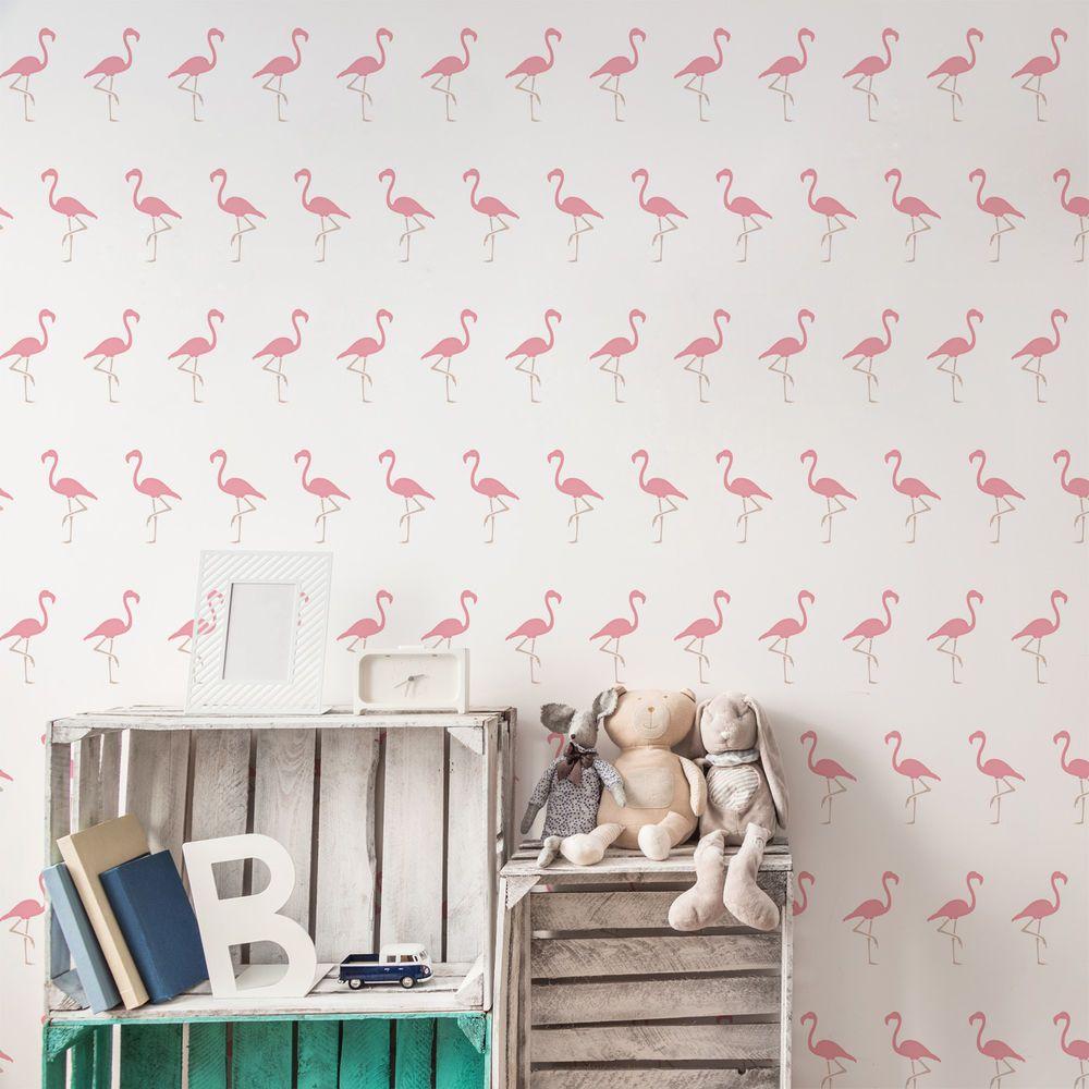 Details About Flamingo Pattern Stencil Tropical Bird