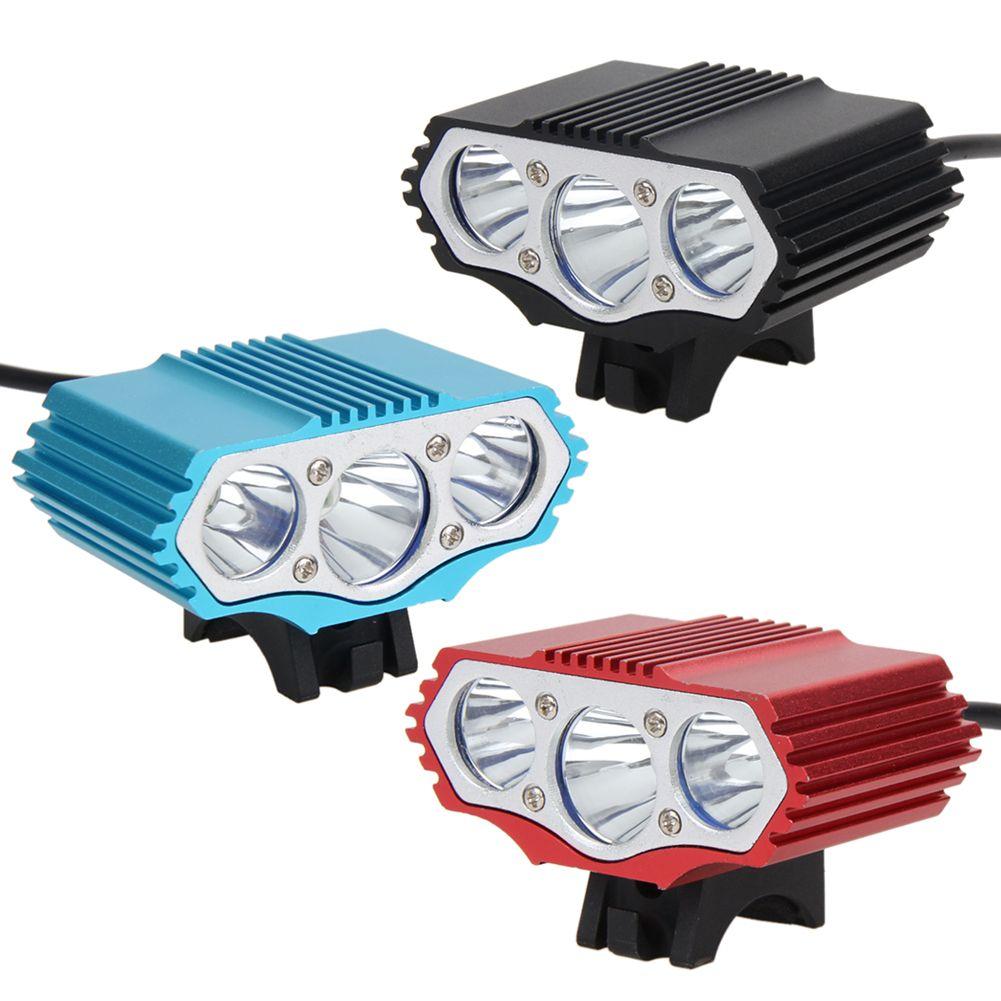 Marca Nueva Lámpara Delantera de la Bici 12000LM 3 X T6 LED 4 Modo de La Linterna de la Bicicleta 6400 mAh Batería Con cargador