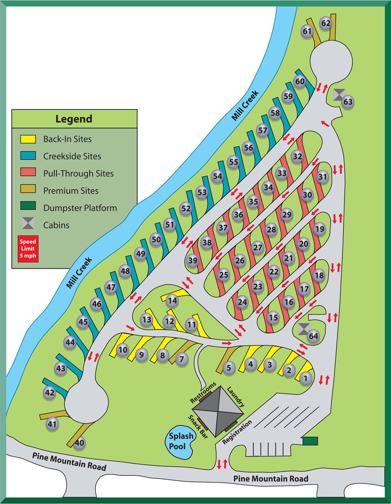 Our Pine Mountain RV Park In Pigeon Forge Tennessee Is Located - Rv parks usa map