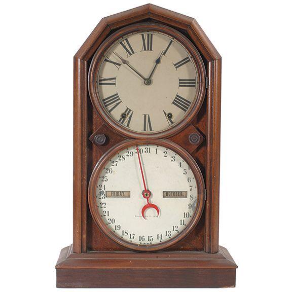 Seth Thomas Calendar 5 On Merritts Com Clock Antique Wall Clock Antique Clocks