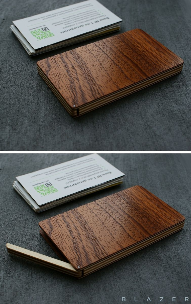 Blazer Luxury Wood Business Card Case For 15 20 Business Cards Leather Business Card Holder Wooden Cardholder For Men Wood Wallet Minimalist Wallet Gift For