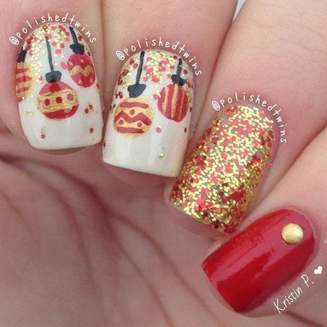 70 Festive Christmas Nail Art Ideas