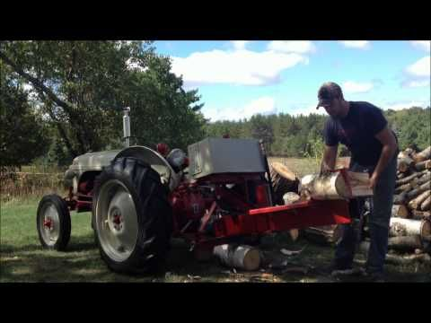 1951 Ford 8n Wood Splitter Wmv Youtube Tractors Classic Tractor Wood Splitter