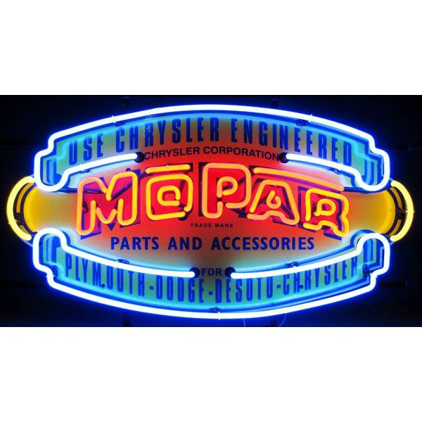 Garage Decor Signs Chrysler Mopar Vintage Shield Neon Garage Sign  Decorating