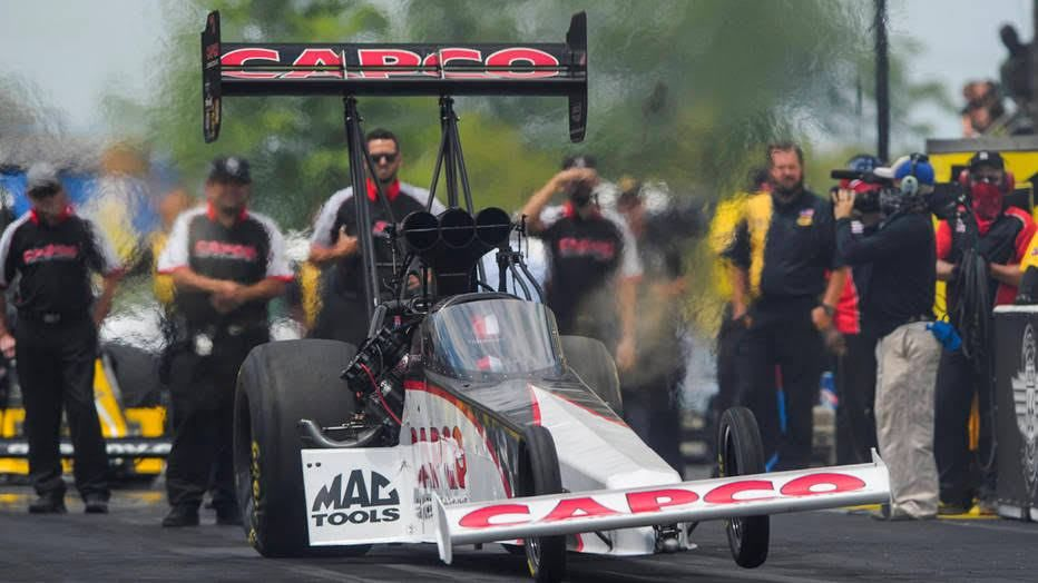 Steve Torrence powered his Top Fuel dragster to his fifth victory of the season Sunday at the 20th annual Fallen Patriots NHRA Route 66 Nationals presented by K&N Filters at Route 66 Raceway ...
