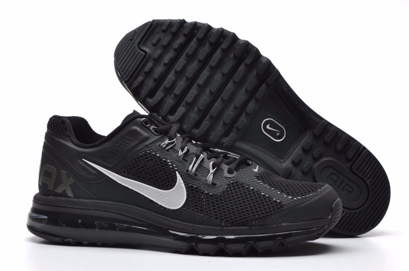 Nike Air Max 2013 Running Shoe size 8.5 554886-001 Mens Black/Dark Grey