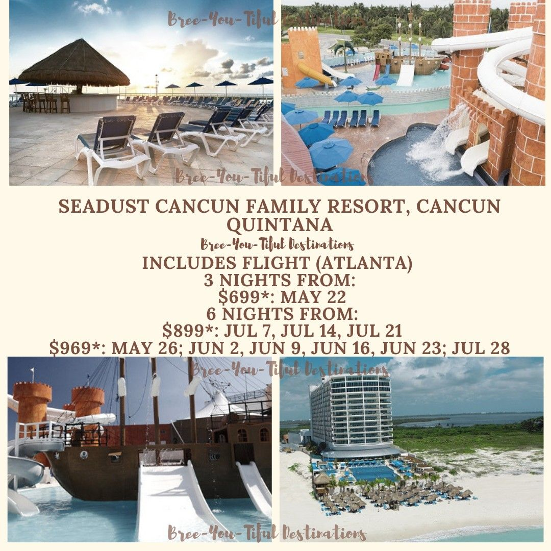 Seadust Cancun Family Resort Is A Striking All Inclusive Resort Located In Beautiful Cancun Located On Cancun Family Resort Relaxing Vacations Cancun Family