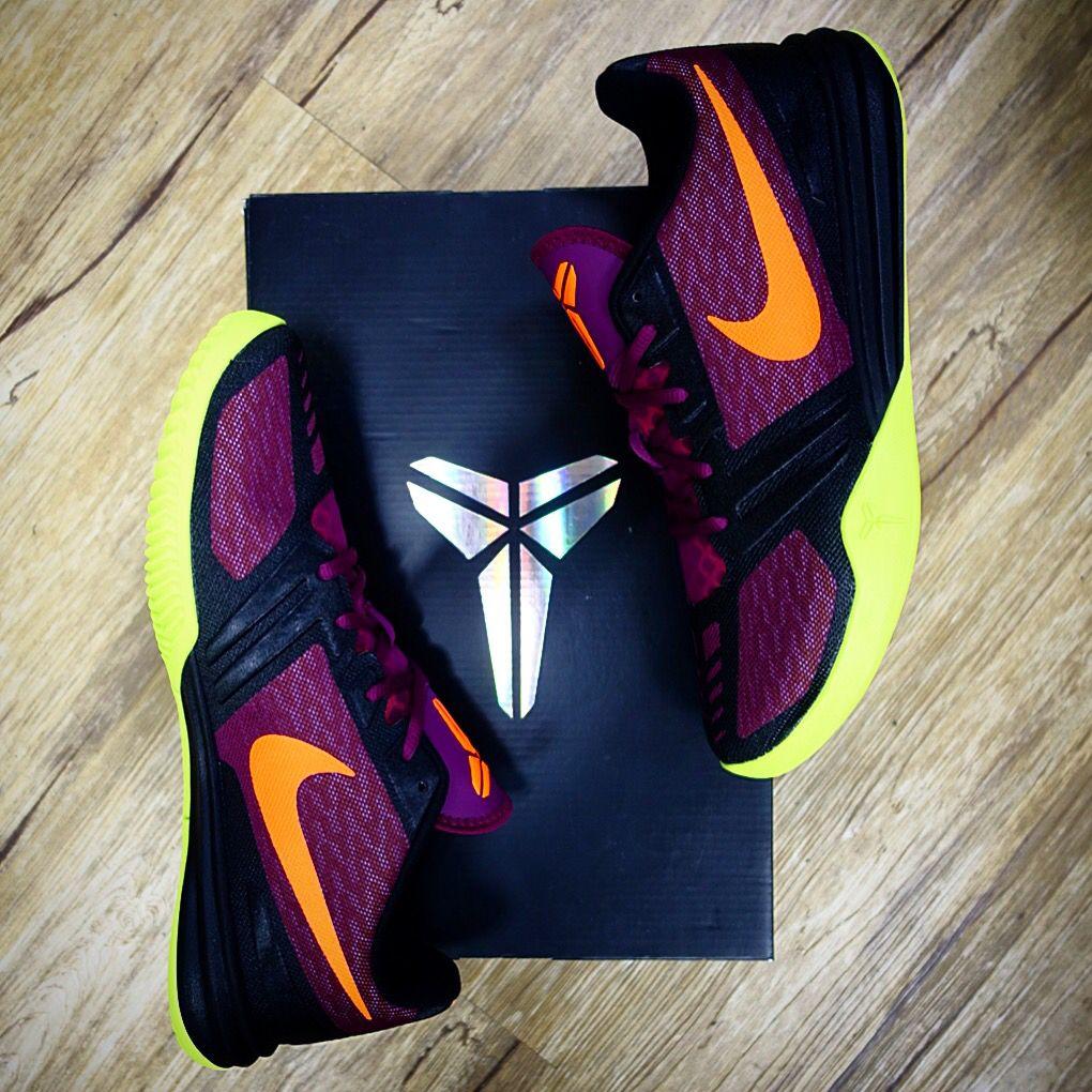Nike KB Mentality Kobe Bryant X 10 Purple Orange Volt Mens Basketball Shoes